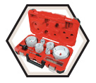 19 Piece Master Electrician's Hole Dozer™ Hole Saw Kit