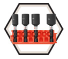 "Nut Setter Set - Impact - 1/4""- 7/16"" - 4 pc / CCSNSV17804 *IMPACT TOUGH"