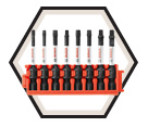 Drive Bit Set - Impact - Robertson - 8 pc / CCSSQV208 *IMPACT TOUGH