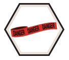 "DANGER Barricade Tape - Red - 3"" x 1000'"