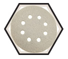 "Sanding Discs - Alum Oxide - 5"" Dia. - 8 Hole / PS33 Series (10 Pack)"