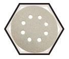 "Sanding Discs - Alum Oxide - 5"" Dia. - 8 Hole / PS33 Series (10 Pack)"
