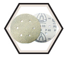"Sanding Discs - Alum Oxide - 6"" Dia. - 6 Hole / PS33 Series (10 Pack)"