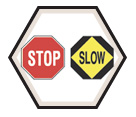 "STOP / SLOW Traffic Paddle - 10"" Handle / Plastic"