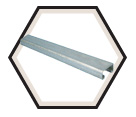"Strut Channel - 13/16"" - Single - 10' / Pre-Galvanized Steel *14 GAUGE"