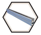 "Strut Channel - 1-5/8"" - Back to Back - 20' / Pre-Galvanized Steel *12 GAUGE"