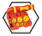 15 Piece Electrician's Bi-Metal Hole Saw Kit