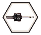 "7/16"" Hex x 1/2"" - Hole Saw Arbor w/ Pilot Drill"