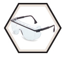 Astro OTG 3001 Safety Glasses - Ultra-dura Anti-scratch / S2500 Series