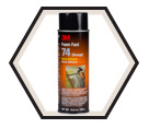 Adhesive - Foam - Clear or Orange - Aerosol / 74 Series *FOAM FAST 74™