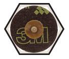 """Fiber Disc - Ceramic/Alum Oxide - 3"""" Dia. /777 *ROLOC"""