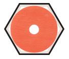 """Fiber Disc - Ceramic - 4-1/2"""" Dia. / 987C *CUBITRON II"""
