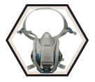 Respirator - Half-Facepiece - Reusable / 6500QL Series *COOL FLOW