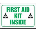 "First Aid Kit Inside Label - 3-1/2""x5"" - Vinyl / LFSD509XVE"