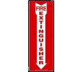 "Fire Extinguisher Arrow Sign - 14"" x 5"" - Plastic / MFXG556VP"