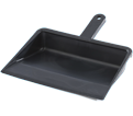 "Dustpan - 12"" Edge - Black / Plastic"