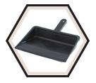 "Dustpan - 12"" Edge - Black / Plastic"