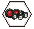 Wheel Barrow Wheels - 14""