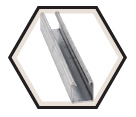 "Strut Channel - 1-5/8"" - Single - 20' / Hot Dip Galvanized Steel *12 GAUGE"