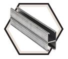 """Strut Channel - 1"""" - Back to Back - 10' / Hot Dip Galvanized Steel *12 GAUGE"""