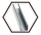 "Strut Channel - 1-3/8"" - Single - 10' / Hot Dip Galvanized Steel *12 GAUGE"