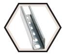 "Strut Channel - 1"" - Single - 10' / Hot Dip Galvanized Steel *12 GAUGE"