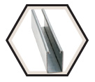 "Strut Channel - 2-7/16"" - Single - 20' / Pre-Galvanized Steel *12 GAUGE"
