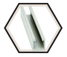"Strut Channel - 1-5/8"" - Single - 10' / Fiberglass"