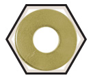 Flat Washers - USS - Medium Carbon Alloy Steel / Yellow Zinc *GRADE 8