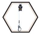 Personal Fall Limiter - Cable - Rebar Hook / MFLEC-12 Series *TURBOLITE EXTREME