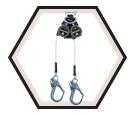 Personal Fall Limiter - Cable - Rebar Hook / MFLEC2-12 Series *TURBOLITE EXTREME