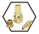 Coupler Assembly - Quick Connect - Brass / 88600H