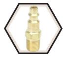 Interchange Nipple - Male Pipe - Brass / 880141H