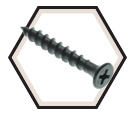 Bugle Head - No. 6 Drywall Screw - Black/Gray Phosphate (JUG)