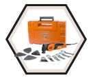 Oscillating Multi Tool (w/ Acc) - 24 pc - 450 W / FSC500QSL *PROFESSIONAL-SET WOOD