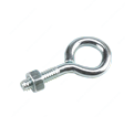 "Eye Bolt w/ Nut - 1/4"" - Steel / Zinc"