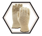 Fabric Gloves - Liner - Poly/Cotton / 602 *WHITE KNIGHT