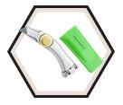 Roofer's Knife - Fixed Blade - Aluminum / 36-274 *HEAVY-DUTY