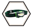 Headlamp - COB LED - 3 AAA / 24-242