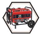 Generator (w/o Acc) - 4,200 W - Gas / KCG4200G *POWERFORCE
