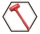 Dead Blow Hammer - One-Piece - Hi-Viz Red / 69-500G Series *SLIMLINE