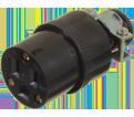 3-Wire Female Rubber Plug w/Clamp - 15 A
