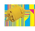 3-Wire Male Plug w/Clamp - 15 A