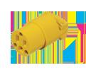3-Wire Female Plug w/Clamp - 15 A