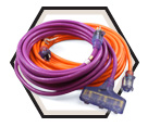 Hi-Viz Extension Cords - 12/3 awg