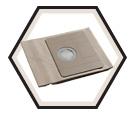 Vacuum Dust Bag - 9 Gallon - Paper / AVB090 (5 Pack)