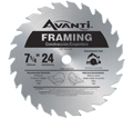 "Circular Saw Blade - 7-1/4"" - 24T / A0724A *FRAMING"