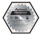 "Circular Saw Blade - 7-1/4"" - 24T / A0724A *FRAMING"