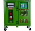 Safety PPE Cabinet - 59.4 Cu Ft - Green / 139-SK *SAFETY KAGE™