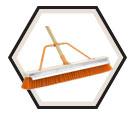 "Push Broom w/ Scraper - 24"" - Coarse / 99824 *FIREFLY"